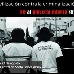 Movilización en contra de la criminalización a la protesta social por proyecto minero Shyri en Azuay