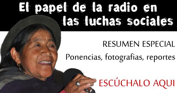 La radio en las luchas sociales