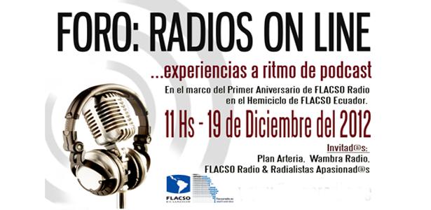 Foro: radios online a ritmo de podcast