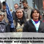 Declaratoria del «Kawsak Sacha – Selva viviente» entregada a la Asamblea Nacional de Ecuador