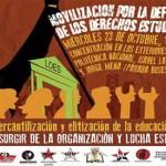 Marcha de estudiantes contra Ley de Educación Superior