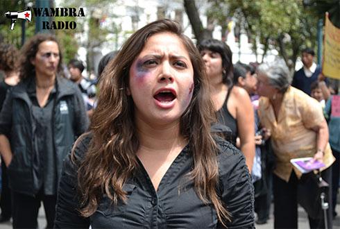 Las mujeres denuncian la violencia a través del arte – #25N en Quito