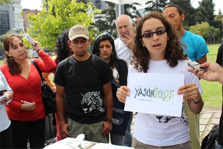 Yasunidos exige a candidatos a pronunciarse por el Yasuní