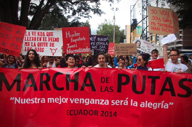 La Marcha de las Putas llena de alegría las calles de Quito