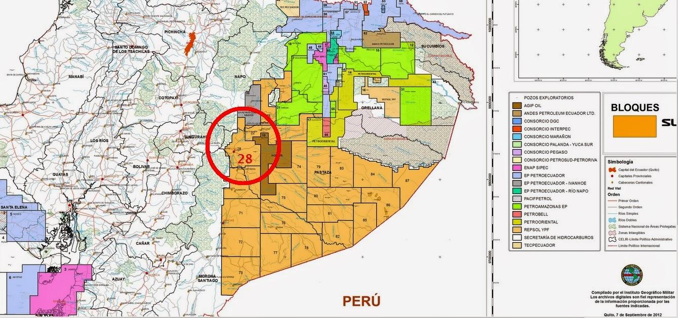 Concesión bloque #28 abre la puerta a explotación petrolera en Amazonía Sur
