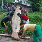 La Canoa de la vida, empezó su viaje en el rio Bobonaza
