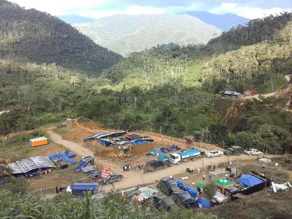 Comunidad Shuar Nankints toma campamento minero de empresa china EXSA