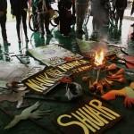 Marcha fúnebre por indígenas Shuar asesinados