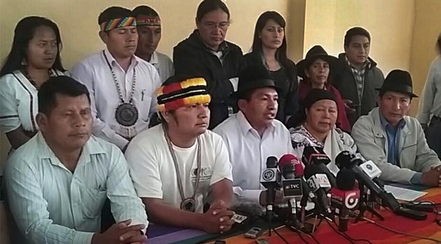 Organizaciones indígenas exigen retiro de militares de Morona Santiago