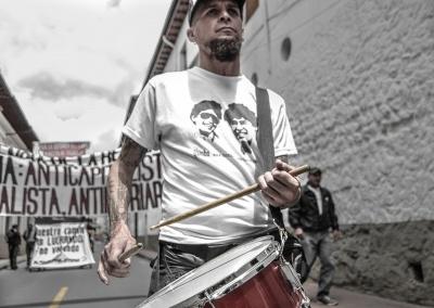 Igor Icaza, baterista de rock libre ecuatoriano