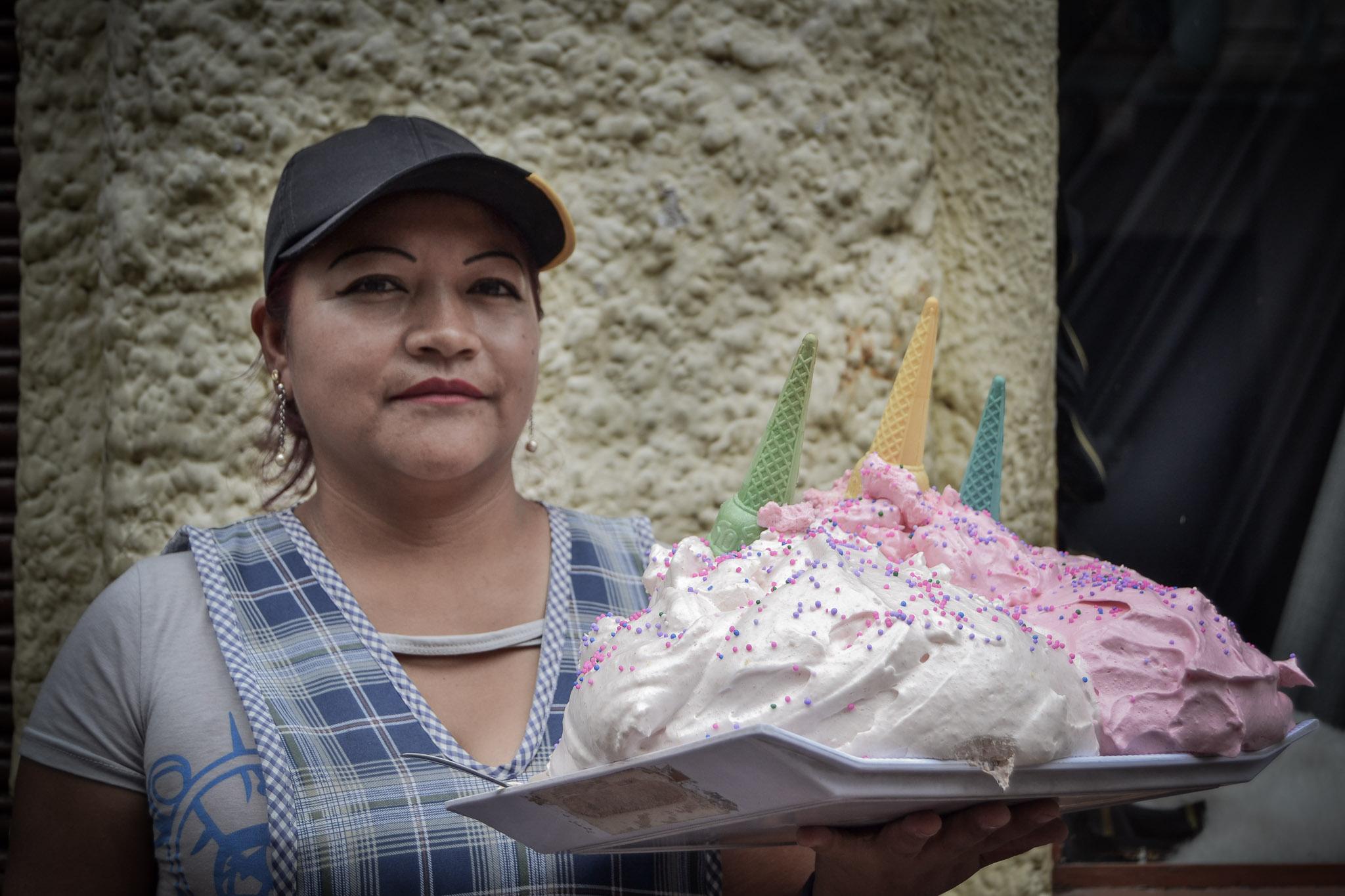 Irene Gordillo, vendedora de espumilla