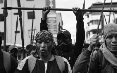 La Amazonía  llega a Quito en respaldo a movilización indígena