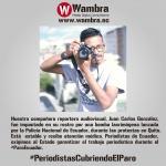 Comunicador de Wambra Ec fue herido en medio de las protestas