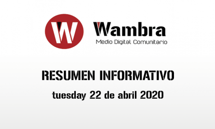 English Version – Corona Virus Ecuador – summery thuesday, 21 de april 2020