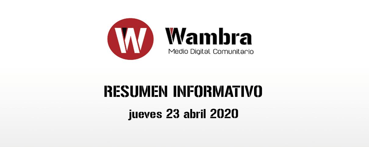 Corona Virus Ecuador – resumen jueves, 23 de abril de 2020
