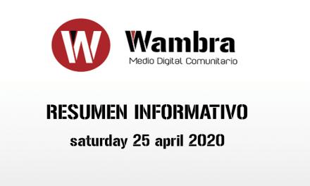 English Version – Corona Virus Ecuador – summery saturday, 24 de april 2020