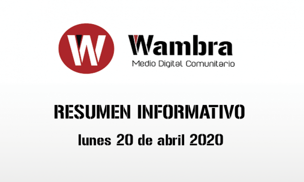 Corona Virus Ecuador – resumen lunes, 20 de abril de 2020