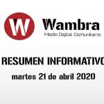 Corona Virus Ecuador – resumen martes, 21 de abril de 2020