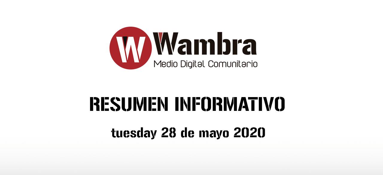 English Version – Corona Virus Ecuador – summery tuesday, 28 de april 2020