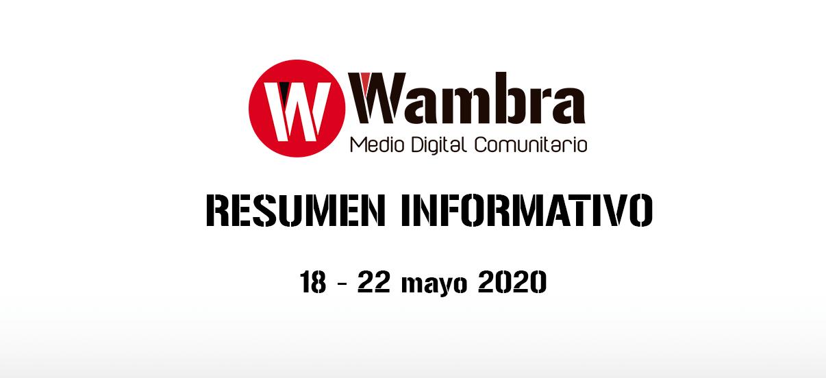 Corona Virus Ecuador – resumen 18 – 22 de mayo 2020