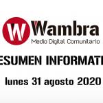Resumen 31 agosto 2020
