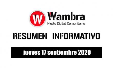Resumen 17 septiembre 2020