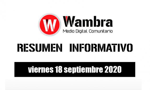 Resumen 18 septiembre 2020