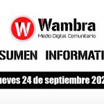 Resumen 24 septiembre 2020