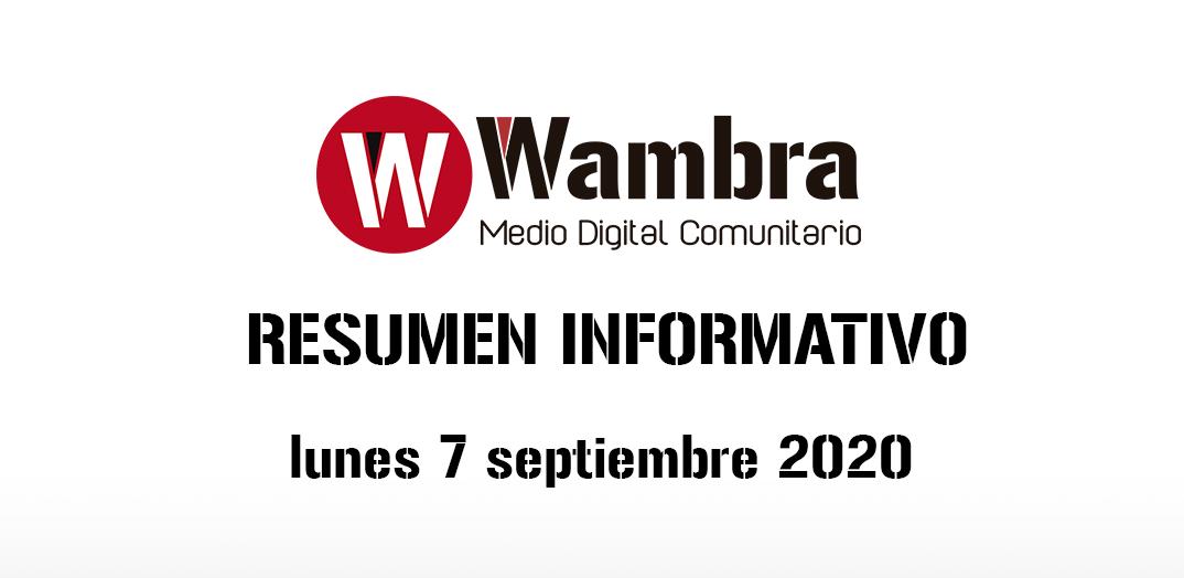 Resumen 7 septiembre 2020