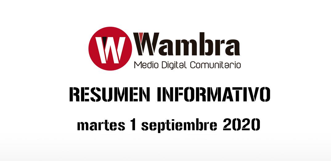 Resumen 1 septiembre 2020