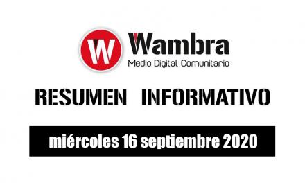 Resumen 16 septiembre de 2020
