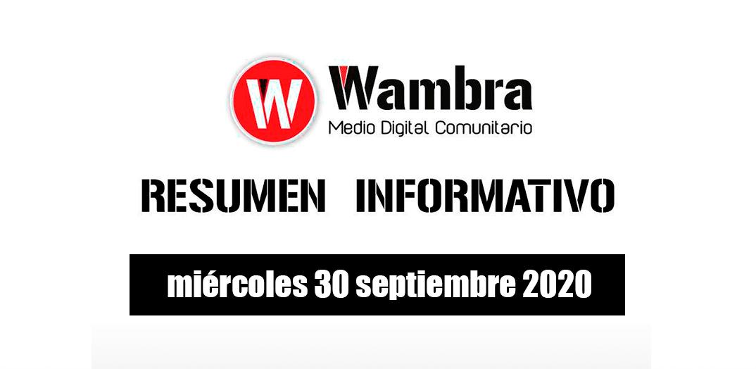 Resumen 30 septiembre 2020