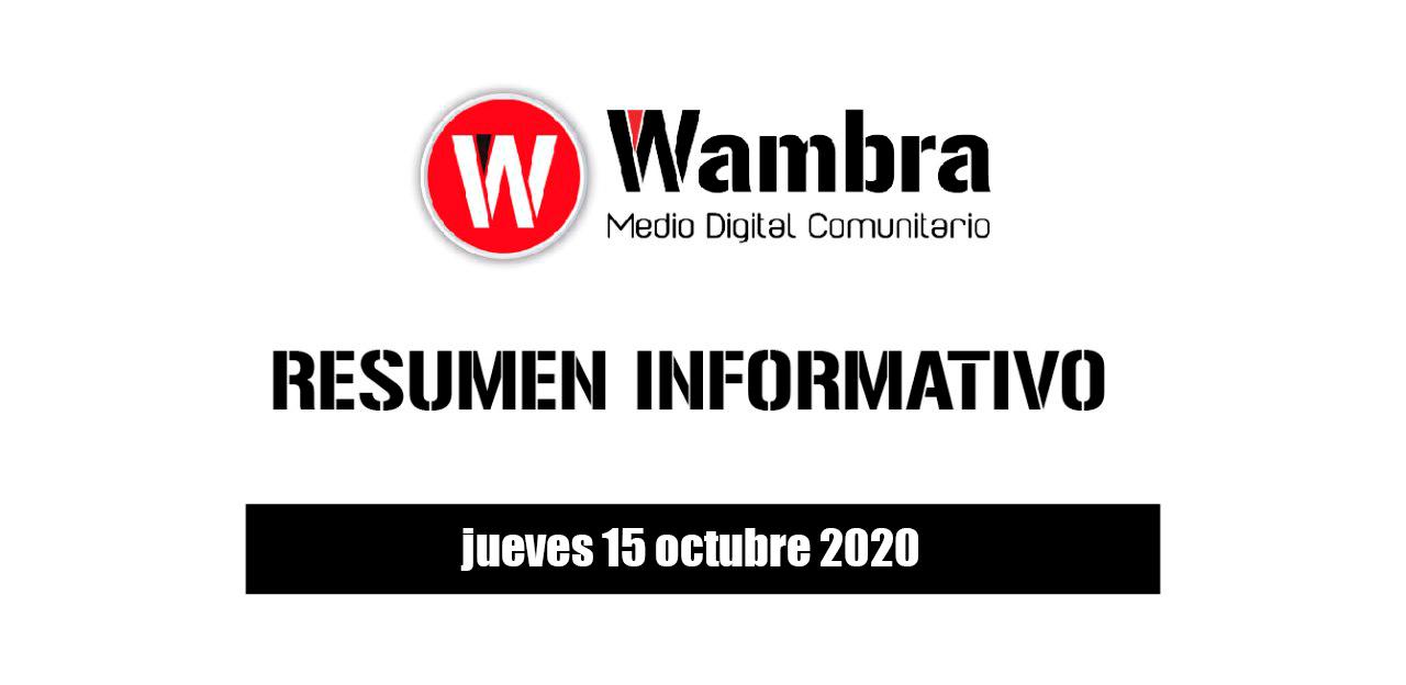 Resumen 15 octubre 2020
