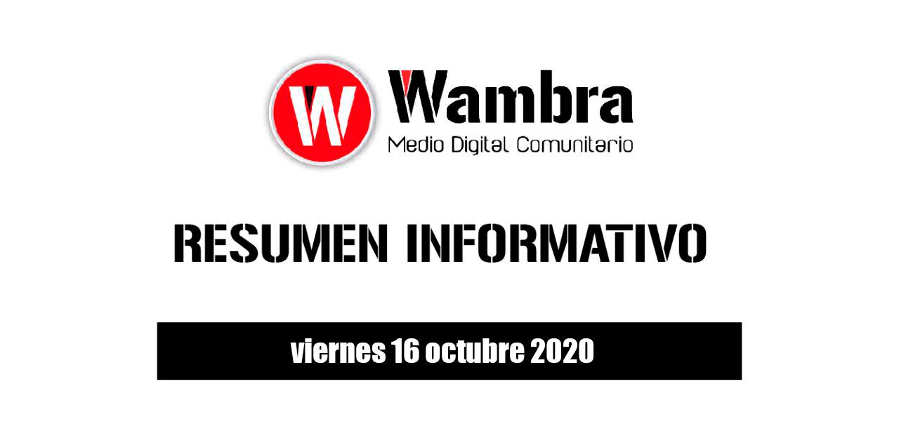 Resumen 16 octubre 2020