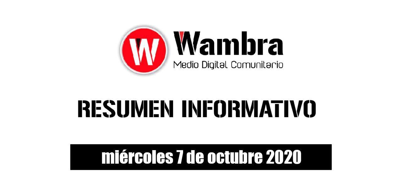 Resumen 7 de octubre 2020
