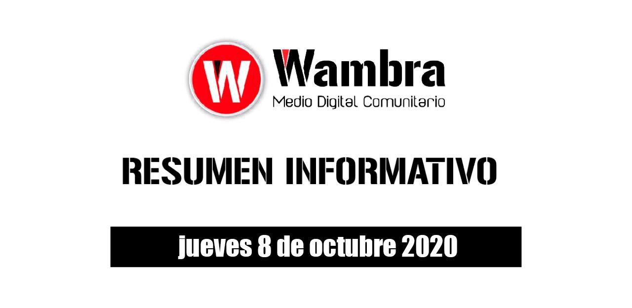 Resumen 8 de octubre 2020