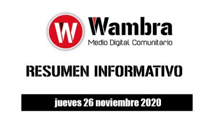 Resumen 26 noviembre 2020