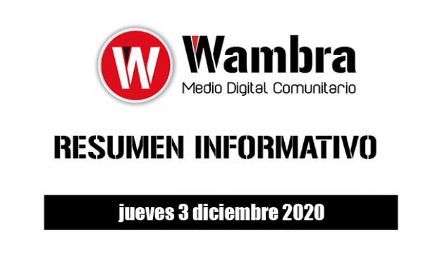 Resumen 3 diciembre 2020
