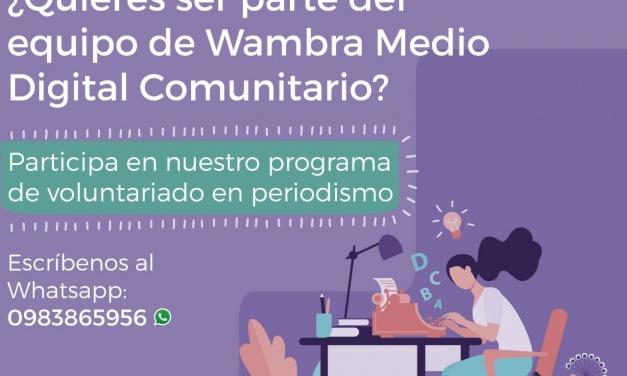 Voluntariado periodismo feminista en WambraEc