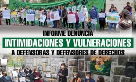 Informe denuncia intimidaciones y vulneraciones a defensoras y defensores de derechos en Ecuador