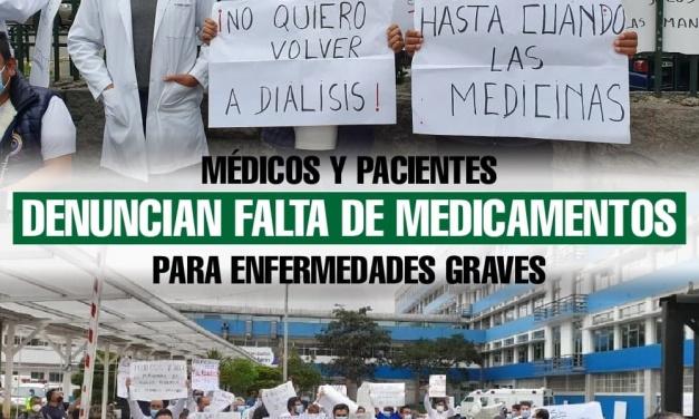 Medicos y pacientes denuncian falta de medicamentos para enfermedades graves