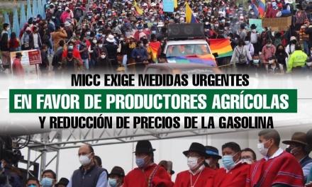 MICC exige medidas urgentes en favor de productores agrícolas y reducción de precios de la gasolina